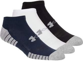 Under Armour HeatGear Tech No Show Sock - 3-Pack - Men's