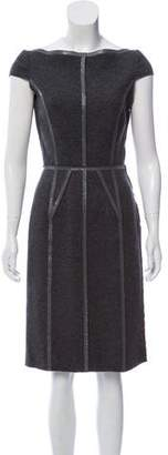 Prada Cap Sleeve Virgin Wool Dress