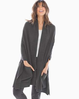 Barefoot Dreams Chic Lite Travel Shawl Carbon