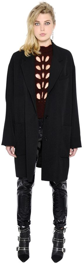 Isabel Marant Oversized Wool Twill Coat