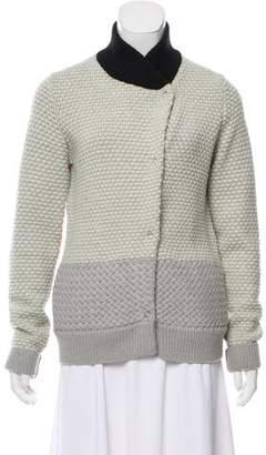 Proenza Schouler Colorblock Wool Cardigan