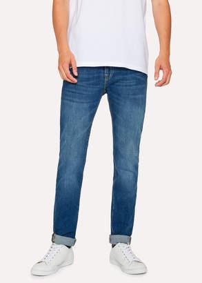 Paul Smith Men's Slim-Fit 12oz 'Authentic Comfort Stretch' Antique-Wash Jeans