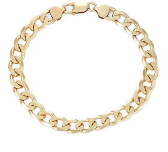 FINE JEWELRY Mens 18K Yellow Gold Over Silver 9, 8.8mm Curb Chain Bracelet