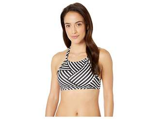 Tommy Bahama Fractured Stripe High Neck Halter Top