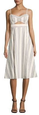 BCBGMAXAZRIABCBGMAXAZRIA Peek-A-Boo Striped Cutout Midi Dress