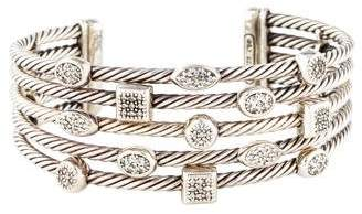 David Yurman Diamond 5-Row Confetti Cuff