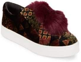 Sam Edelman Leya Velvet and Faux Fur Accented Sneakers
