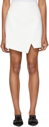 Tibi White Flap Front Miniskirt