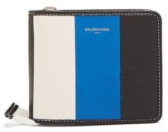 Balenciaga Bazar Zip Around Leather Wallet - Mens - Multi