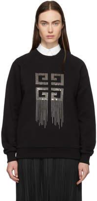 Givenchy Black 4G Crystal Embroidery Sweatshirt