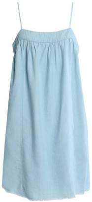Soft Joie Frayed Cotton-Blend Chambray Mini Dress