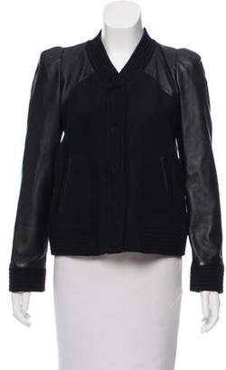 Claudie Pierlot Claudiet Pierlot Leather & Wool Jacket
