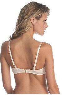 Betsey Johnson Zipper Stripe Demi-Bra & Bikini Panty