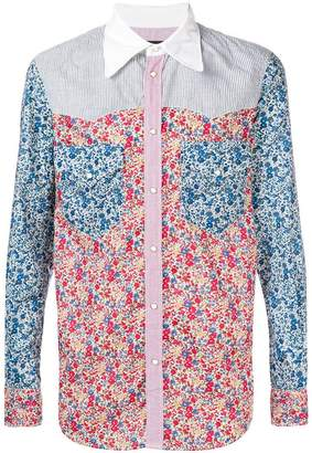 DSQUARED2 patchwork floral-print shirt