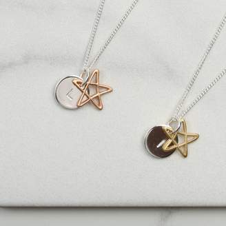 LHG Designs Personalised Star Overlay Necklace Gift For Her