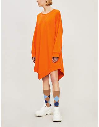 MM6 MAISON MARGIELA Dipped-hem cotton-jersey sweatshirt