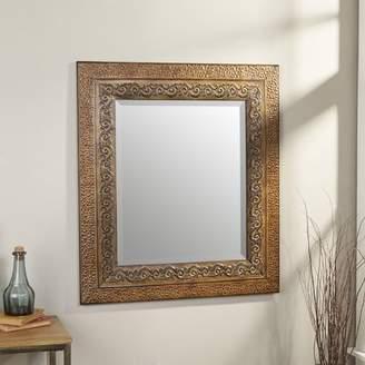 World Menagerie Asrani Rustic Metal Framed Mirror