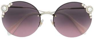 Miu Miu pearls collection round shape sunglasses