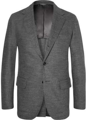 Camoshita Grey Mélange Wool-Blend Blazer