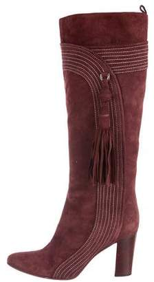Anya Hindmarch Suede Knee-High Boots