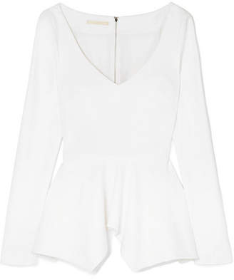 Antonio Berardi Stretch-cady Peplum Top - Ivory
