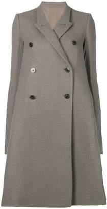 Rick Owens flared double-breasted coat