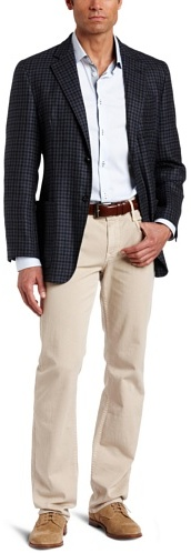 Joseph Abboud Men's Two-Button Side-Vent Soft-Construction Check Sport Coat