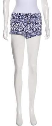 Melissa Odabash Patterned Mini Shorts