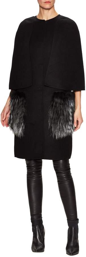 Fendi Women's Trimmed Overlay Coat