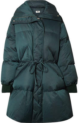 MM6 MAISON MARGIELA Oversized Belted Quilted Shell Down Coat - Dark green