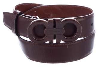 Salvatore Ferragamo Skinny Leather Belt