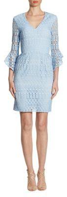 Shoshanna V-Neck Lace Dress $395 thestylecure.com