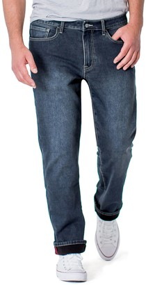 Izod Men's Fleece-Lined Jeans