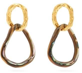 Lizzie Fortunato Loto Double Link Drop Earrings - Womens - Gold