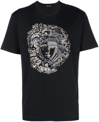 Versace Medusa embellished T-shirt