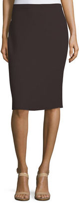 Eileen Fisher Washable Wool Crepe Pencil Skirt, Petite $198 thestylecure.com