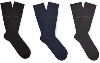 HUGO BOSS Three-Pack Stretch Cotton-Blend Socks - Men - Multi