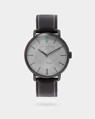 Ted Baker TRENATY Leather strap round watch