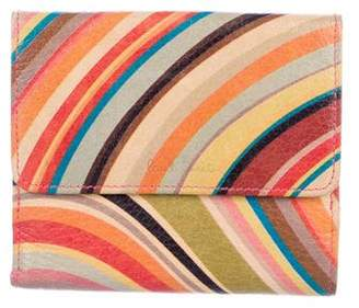Paul Smith Striped Grained Leather Wallet
