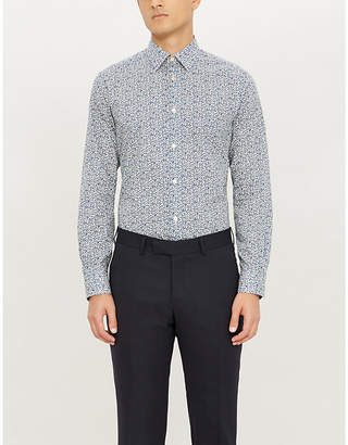 Paul Smith Floral-print slim-fit cotton shirt