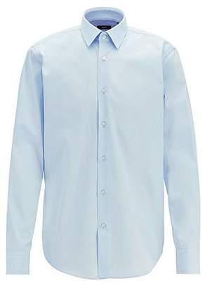 HUGO BOSS Regular-fit shirt in cotton poplin