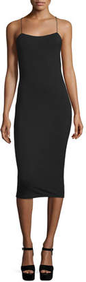 Alexander Wang Strappy Stretch Midi Dress, Black