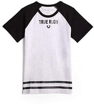 True Religion TODDLER/BIG KIDS BOYS RAGLAN LOGO TEE