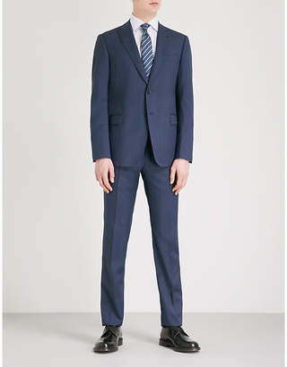 Pindot modern-fit wool suit