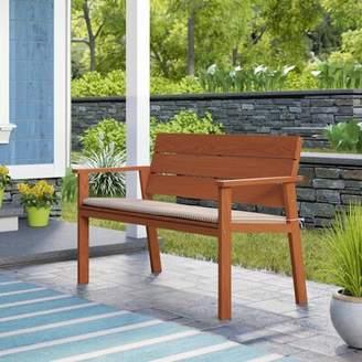Beachcrest Home Gaeta Eucalyptus Garden Bench