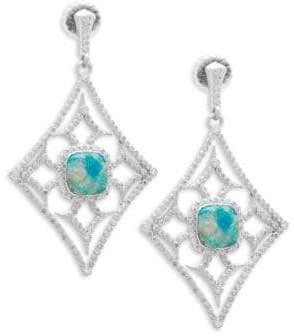 Armenta New World Gemstone & Diamond Large Cut-Out Drop Earrings