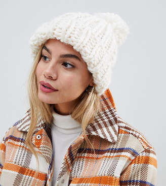 9816e5586a3 My Accessories cream extra chunky knitted hat