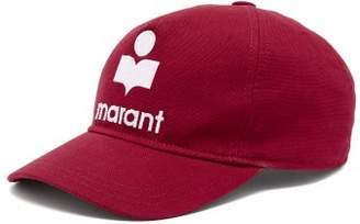 738fe216a12 Isabel Marant Tyron Logo Embroidered Baseball Cap - Womens - Red