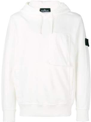 Stone Island Shadow Project contrast patch hoodie