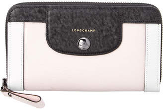 Longchamp Leather Zip Around Wallet